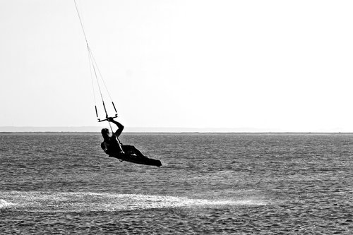 water sports  black and white photography  greyscale