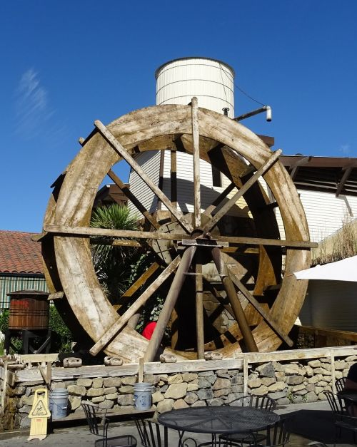 water wheel machine watermill