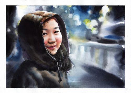watercolor watercolor portrait portraits
