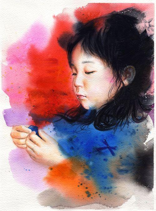 watercolor portrait watercolor portraits
