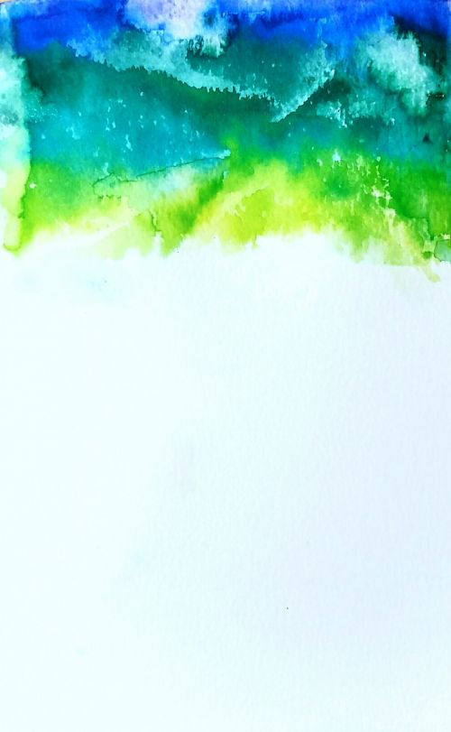 watercolor blue green