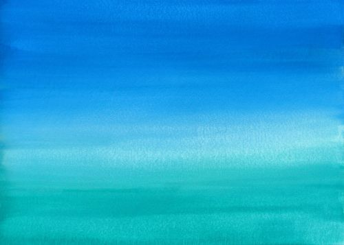 watercolor blue teal