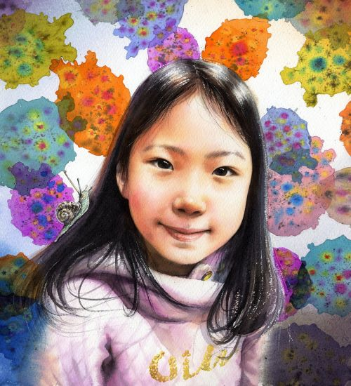 watercolor portrait watercolor art