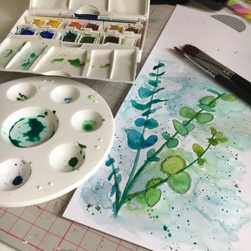 watercolor palette painting