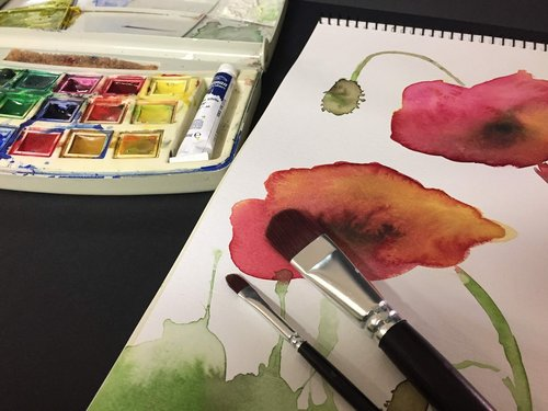watercolor  art  paint