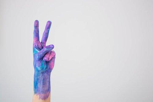 watercolor  blue  violet