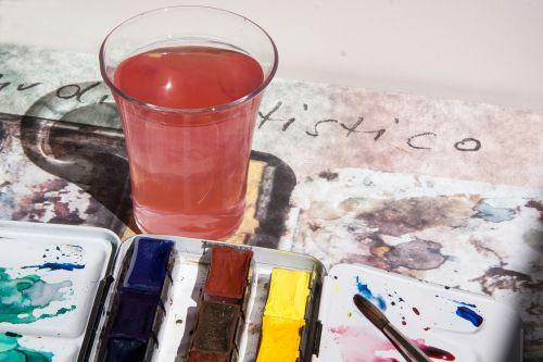 watercolor box color color wells