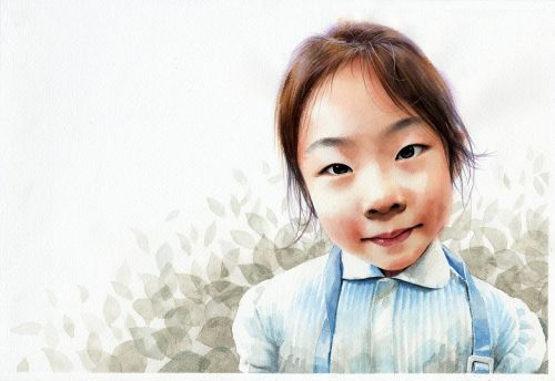 watercolor portrait figure watercolor