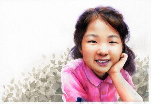 watercolor portrait watercolor art