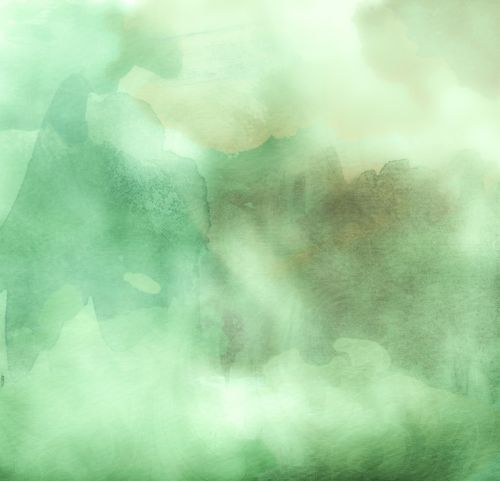 watercolors green background