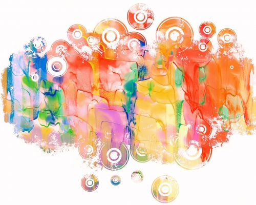 watercolour paint dripping
