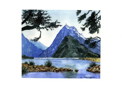 watercolour art landscape
