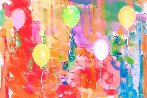 Watercolour Balloons