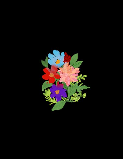 watercolour flowers  bouquet  spring