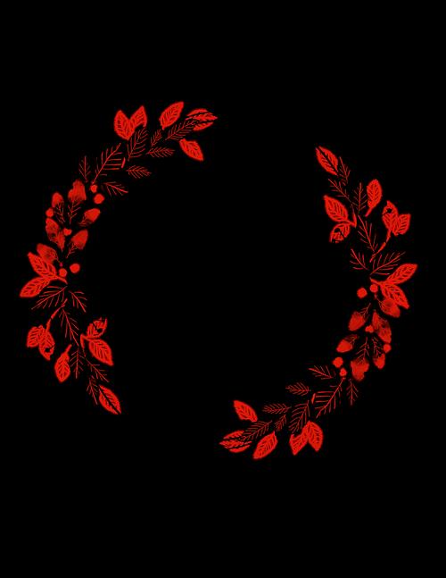 watercolour wreath  bouquet  ornament