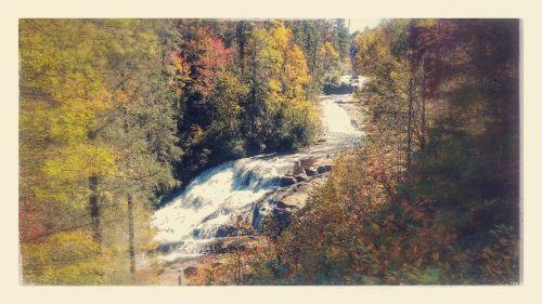 waterfall nature outdoors