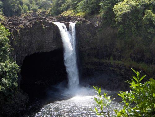waterfall hawaii tropical