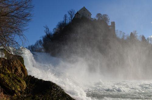 waterfall rhine falls schaffhausen