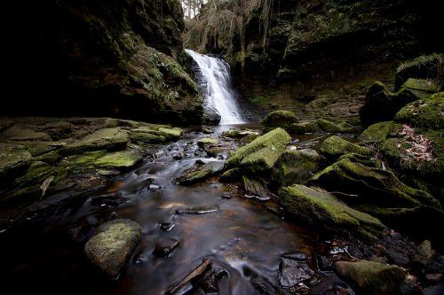 waterfall hareshaw linn northumberland