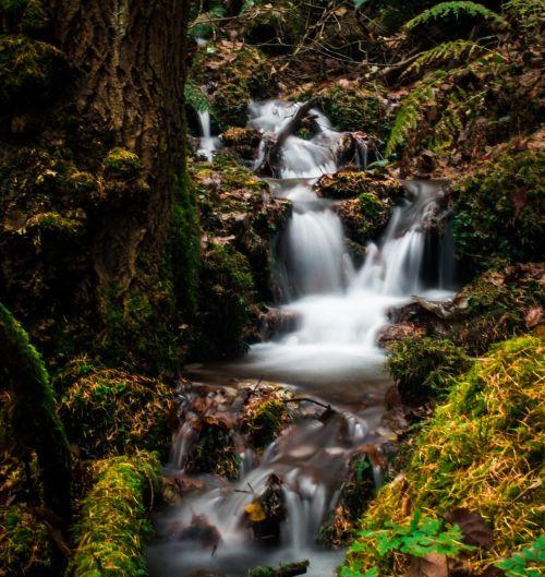 waterfall long exposure water