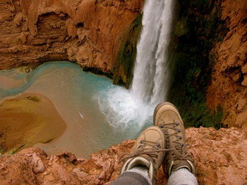 waterfall hiking nature