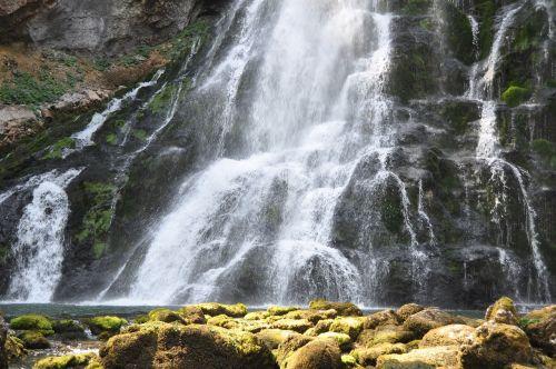 waterfall closeup waterfall water