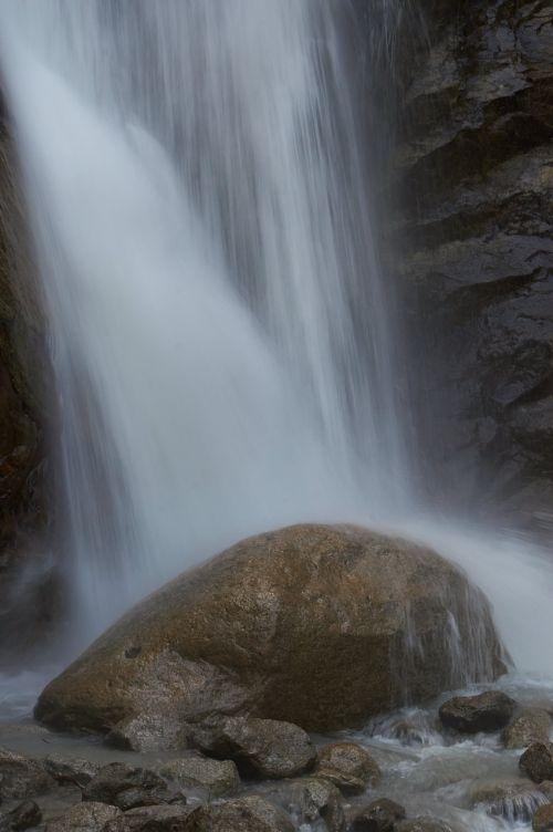 waterfall chamonix alps