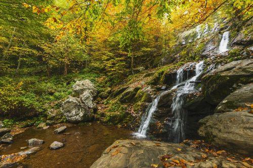waterfall autumn wilderness