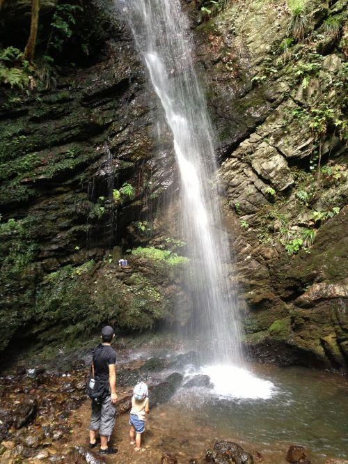 waterfall adventure clear stream