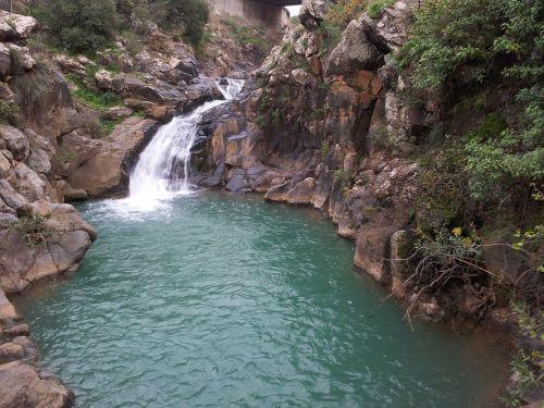 waterfall water natural water