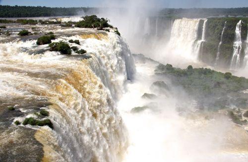south america waterfall waterfalls foz de iguazu