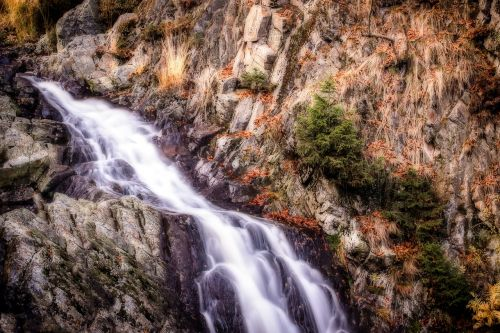 waterfall water small waterfall