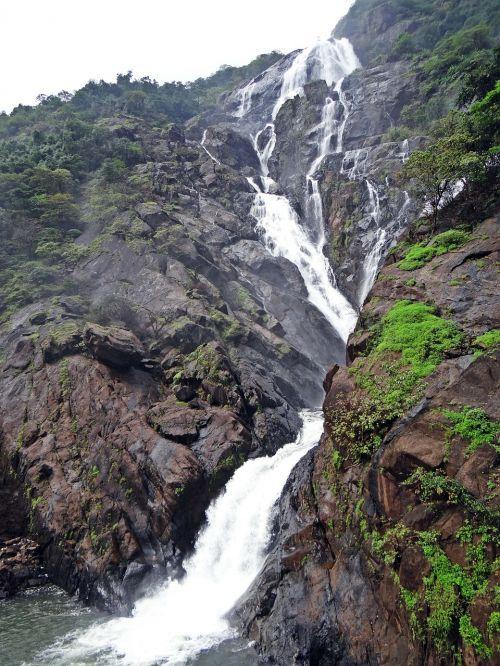 waterfall dudhsagar dudh sagar