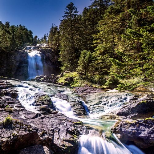 waterfall nature landscape