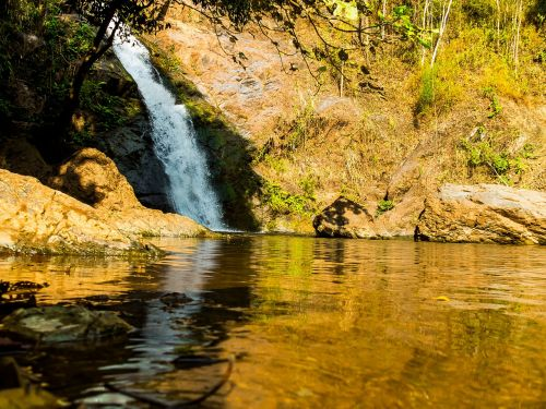 waterfall river landscape north thailand