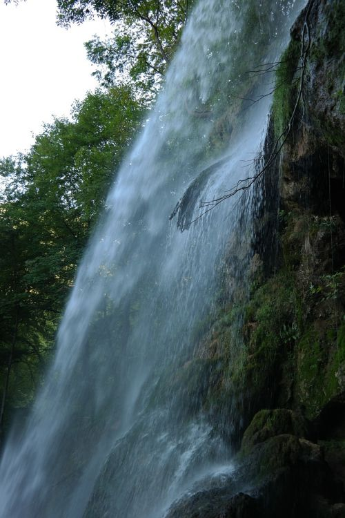 waterfall urach waterfall water veil
