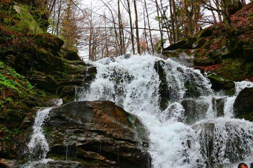 waterfall water carpathians