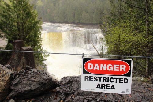 waterfall danger green