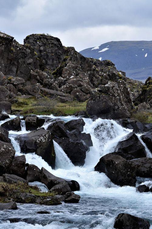 waterfall river white