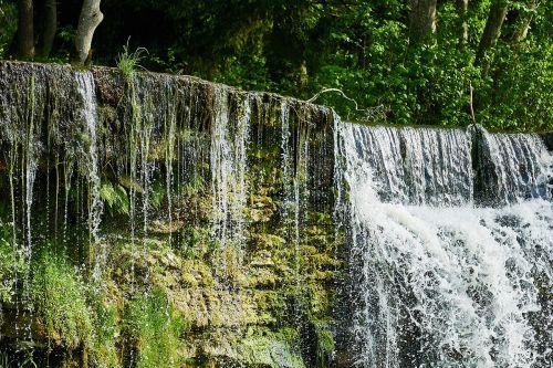 waterfall nature landscape