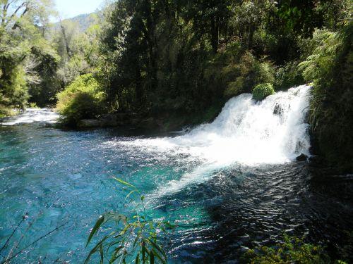 waterfall chile nature