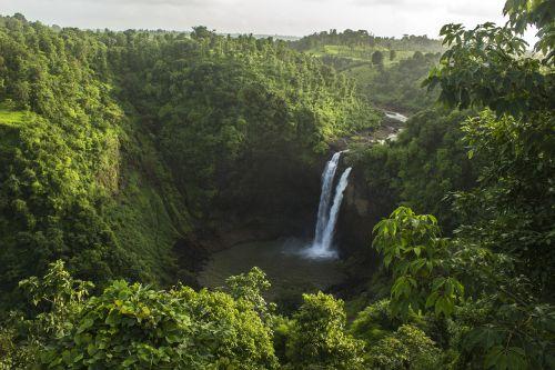 waterfall nature pure