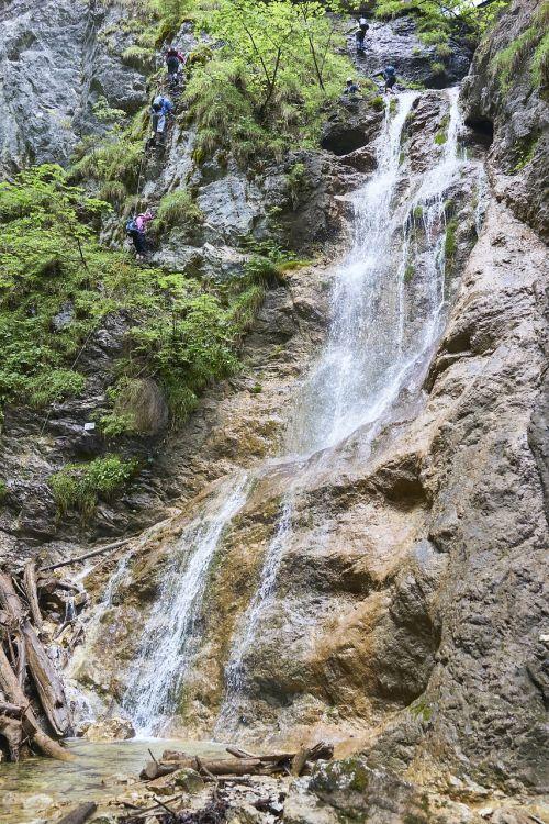 krioklys,turistai,slovak rojus,vanduo,srautas,lašai,gamta,lašai vandens,slovakija