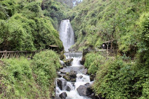 waterfall peguche otavalo