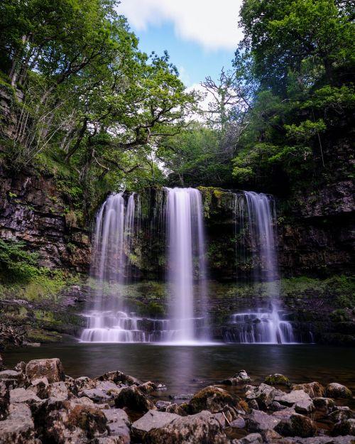 waterfall wales landscape