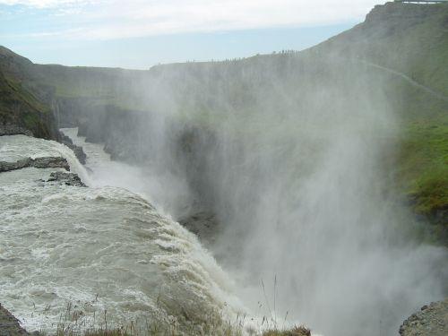 waterfall gullfoss force of nature
