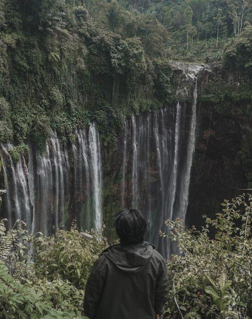 waterfall fog indonesian