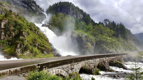 waterfall norway scandinavia