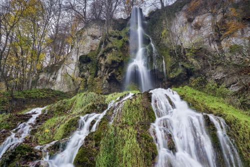 waterfall autumn nature