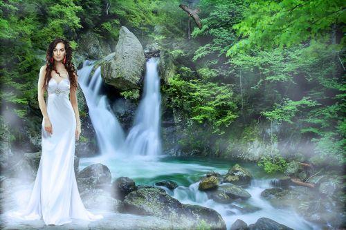 waterfall waters nature